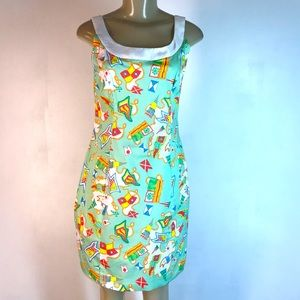 Kaeli Smith Circus Print Daisy Tank Dress Green 4